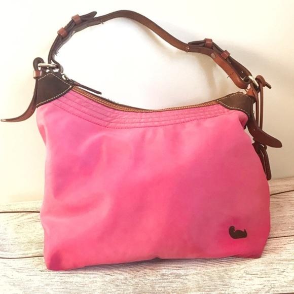 Dooney & Bourke Handbags - Dooney & Bourke Pink Nylon Shoulder Hobo Bag